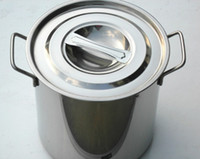 Wholesale Restaurant Quality Stainless Steel Stock Pot Set Set Large Capacity Stock Pot Tirclad Bottom Oven and Indution Suitable