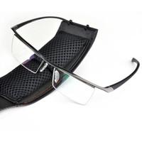 Wholesale Half rim Glasses Titanium Eyeglasses Frame Men Optical Frame Reading Clear lens Computer Myopia Frame suit Prescription Eyewear