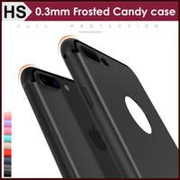 Silicone apple iphone gros France-Case iPhone7 Slim Frosted TPU pour gros iPhone 7 Plus doux Ultrathin Matte bonbons couleur brillant Liines antipoussière Couverture arrière