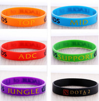 Wholesale Classic LOL Game Wristband Silicon Bracelet League of Legends Bangles ADC Jungle Support Mid Top Charms Collection Silicone ZBLC