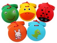 Wholesale Cartoon wooden castanets Children s musical toys early childhood educational toys