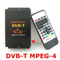 Wholesale 250km h mobile digital tv tuner terrestrial reception box dvb t mpeg car transmitter modulator tuner for car monitors digital freeview