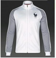 animals france - 2016 France soccer jackets France away blue football jackets POGBAES BENZEMA top quality jackets SIZE S M L XL