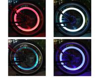 best aluminium bike - LED Flash Light Bike Wheel Lights Tyre Wheel Valve Cap Light Bike Bicycle Motorcycle Car Wheel Light Tyre Aluminium Material LED Best