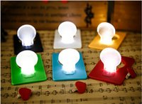 Wholesale mini led light portable pocket light bulb lamp christmas card switch card sharp credit card led