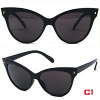 Wholesale High Quality Cat Eye women sunglasses Retro Designer Super light black Glasses sunglasses frame beach sunglasses uv protection sunglasses