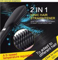 Wholesale 2016 New in Antomatic LCD Hair Straightener Comb With Spray PTC Heating VS Star NASV FAST Straight hair Brush