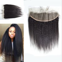 baby tangle - Mongolian Human Hair Ear To Ear Kinky Straight Lace Frontal Lace Frontal With Baby Hair Bleached Knots No Tangle