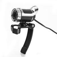 Wholesale Newest Webcam USB Megapixel HD Camera Web Cam Degree WITH MIC Clip on For Skype Computer PC LAPTOP SXT
