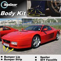 Wholesale Bumper Lip Lips For Ferrari Testarossa F512M TR Front Skirt Deflector Spoiler For Car Tuning The Stig Recommend Body Kit Strip