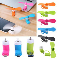 Wholesale Portable Mini Mobile Phone Fan Cooling Cooler For iPhone s s s Plus Android Samsung HTC LG