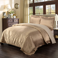 bamboo water color - Yarn Dyed Poly Silk Bamboo cotton Jacquard Bedding Set Water Drop duvet cover and pillow case