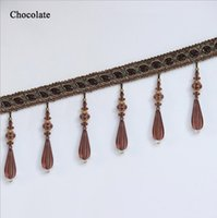 Wholesale 2016 Curtain Lace Accessories Tassel Fringe Trim DIY Love Beads crystal bead Braide Drapery Sewing Textile Decoration