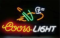 Coutume canard France-NEON SIGN pour COORS LIGHT <b>Duck Custom</b> Store Afficher Bar à bière Pub Club Lights Signs Shop Décorer de vraies ampoules à tubes en verre
