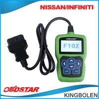 automotive key programming - Original OBDSTAR F102 Pin Code Reader For Nissan Infiniti F Auto Key programming Odometer correction tool DHL