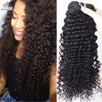 A la venta rizados brasileños pelo rizado Bundles 4Pieces mixtos Longitudes 100% Remy de la Virgen extensiones del cabello humano de 10