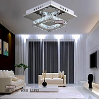 Wholesale Square LED Crystal Light Chandelier Lighting for Aisle Porch Hallway Stairs wth LED Light Bulb Watt Guarantee