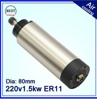 ac motor kw - 1 kw CNC router v AC x197mm bearings spindle motor ER11 kw air cooled spindle for engraving milling spindle