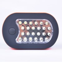 Wholesale 27 LED Emergency Light Compact Home Work Light Camping Lamp Lantern Hiking Tent Flashlight With Hook PHM582W