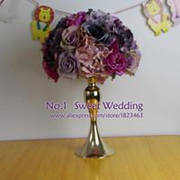 arch tables - Table centerpiece wedding road lead artificial silk rose Wedding arch square pavilion corners decorative