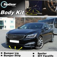 Wholesale Bumper Lip Lips For Hyundai Aslan Front Skirt Deflector Spoiler For Car Tuning The Stig Recommend Body Kit Strip