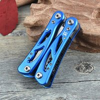 Wholesale 12 in multifunction folding tongs Pliers set Wire shears screwdriver bottle opener knife camping hand tools survival kits