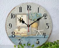 Wholesale Boreal Europe Style Wall Clock Vintage Rustis Shabby Art Quartz Bracket Clock For Home Cafe Office Decoration rolex wall clock