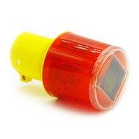 Venta al por mayor-Solar Powered luz de advertencia de tráfico LED Solar de señal de seguridad Beacon emergencia lámpara de alarma
