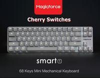 alu stock - New Sale Magicforce Smart Keys White Backlit Antighosting USB Mechanical Gaming Keyboard Alu Alloy Cherry MX Brown Switches