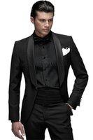 Wholesale High Quality One Button Black Groom Tuxedos Groomsmen Men s Wedding Prom Suits Bridegroom Jacket Pants Girdle Tie K