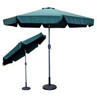 Wholesale 9 Feet FT Outdoor Patio Umbrella Green Crank Market Aluminium Pool Yard