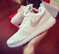 Wholesale 2015 Roshe Run Casual Shoes White Black Women Men Running Shoes Cheap Roshes Run Sport Trainers Size