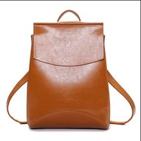 Wholesale Kavard Famous Brand Backpack Women Backpacks Solid vintage School Bags for Girls black leather backpack mochilas mujer new hight qualit