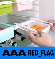 Wholesale Plastic Kitchen Refrigerator Storage Rack Fridge Freezer Shelf Holder Pull out Drawer Organiser Space saver LLY65