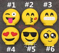 banks smile - Carton Emoji Power Banks mAh Mini Cellphone Powerbanks External Battery Charger Lovely Smile Face Portable Power Bank for iPhone Plus