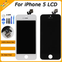 Wholesale LCD Display Touch Digitizer Complete Screen with Frame Full Assembly Replacement for iPhone S C by DHL