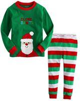Wholesale New Fashion Kids Christmas Sleeping Dress Boys Girls Pajamas Sets Santa Baby Sleepwear Sleeping Clothes Night Suit Children Home Dress