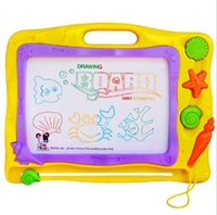 Wholesale Children s Erasable Colorful Drawing Board Doodle Large Size Colored Magnetic Sketchpad WordPad Kids Education Toys Drawing Board
