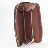 Wholesale Classic men wallets famous brand wallet women long zippy wallets vintage ladies clutch purses credit card holder purse carteira masculina
