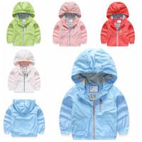 Girl american tech - 2016 spring autumn Children s Hooded coat with zipper girls tech jacke The boy windbreaker trench coats Overcoat colors choose for years