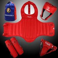 Wholesale Kang Rui KS51 boxing Sanda Huju five piece red blue package containing one generation
