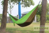 Wholesale 2016 Camping Survival garden hunting Leisure travel Double Person Portable Parachute Hammocks people Hammock