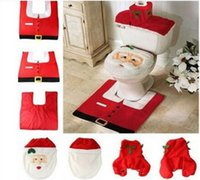 Wholesale Christmas Decorations Christmas Supplies Christmas Santa Claus toilet set toilet set decorated Christmas crafts