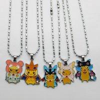 best pokemon pearl - Unisex Poke Pikachu Alloy Pendant Necklace Cartoon Pocket Monster Pikachu Necklace Poke Pikachu Pendants Jewelry Best Gifts PPA161
