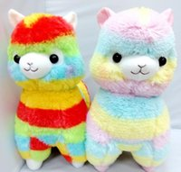alpaca soft toy - New Rainbow Alpaca Plush Toy Japanese Soft Plush Alpacasso Baby Plush Stuffed Animals Alpaca Gifts cm cm