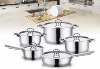 Wholesale inox cooking pots set kitchenware cooker set SUS monther gift STAINLESS STEEL Cooking pans