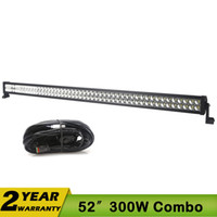 atv vehicle - 52 Inch W V DC Combo Beam Actual Lumen W LED Work Light for Jeep Off road Vehicles Truck ATV UTV