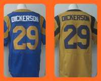 Wholesale Men s Eric Dickerson Yellow Blue Draft Jerseys Top Quality Drop Shipping Can Mixed orders Hot Selling