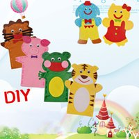 Wholesale Pc DIY Creative Sewing Cloth Puppets Dolls Children Handmade Cute Cartoon Animal Sticker Toys for Kids Early Educational Gifts