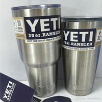 Wholesale 2016 Hot Sale Stainless Steel insulation Cup OZ OZ and OZ YETI Cups Cars Beer Yeti Mug Large Capacity Can pack ice